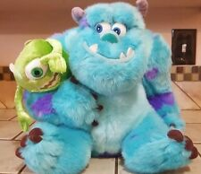 Monsters Inc Sully and Mike Wazowski Plush Dolls Toy The Disney Store Pixar 12""