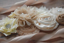 Sash, natural color Sash, flower Belt, maternity sash