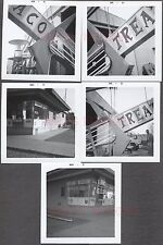 Lot of 5 Vintage Photos Roadside Taco Treat Burger Stand Coca Cola Sign 672289