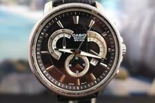 Huge, Sporty Casio Beside 45mm SS Black Dial Chrono Quartz Date