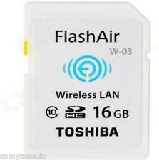 TOSHIBA FLASH AIR 16GB WIRELESS WIFI SD SDHC CARD CLASS 10 FLASH MEMORY W-03