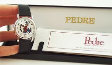 Disney Silver-Tone GOOFY WATCH by Pedre Runs Backwards! - MINT In Original Box