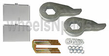 "Lift Kit Chevy Front Torsion Keys 2"" Rear Aluminum Blocks 2000 - 10 Truck 8 Lug"