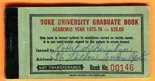 RARE 1975/76 DUKE UNIVERSITY FOOTBALL/BASKETBALL TICKET BOOK...7 FULL TIX INSIDE