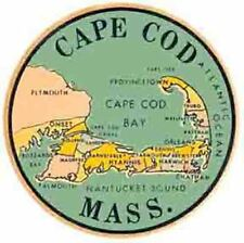 CAPE COD  Massachusetts Vintage Looking   Travel Decal Sticker Luggage Label