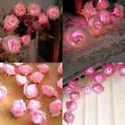 20 LED Rosas Flor De Pilas Guirnalda Luces Boda Decoración Dormitorio 2m