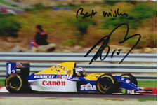 Alain PROST main signé Canon Williams Renault F1 6x4 photo 1.