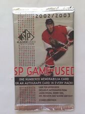 2002-03 Upper Deck SP Game Used Hockey HOBBY Pack 1 Jersey/Patch/Auto, Rookies?