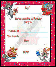 10 Tom and Jerry Birthday Party Invite / Invitations