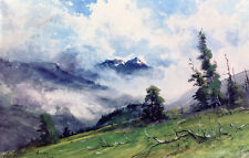 In the Colorado Mountains  by Charles P Adams   Giclee Canvas Print Repro