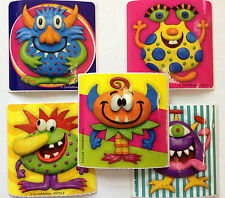 15 Clay Monsters stickers Party Favors Preschool Teacher Supply
