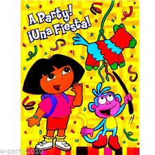 (16) DORA the Explorer FIESTA INVITATIONS ~ Birthday Party Supplies Boots Diego