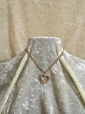 """Linx & More Large Cubic Zirconia Gold Plated """"What's in Your Heart"""" Glass Locket"""