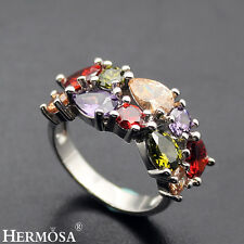 $15.25 Christmas Sale. 925 Sterling Silver HOT WOMEN GIFTS Garnet Ring Sz 8