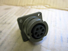 Amphenol 97B03100A14S-6S 6-Way Wall Mount Receptacle, Bayonet Coupling 442-2612