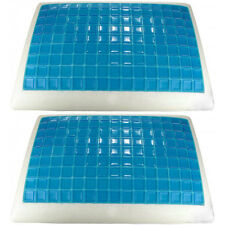 "2 Queen Size Gel Memory Foam Cooling Pillows Therapeutic 28""x16""x5"""