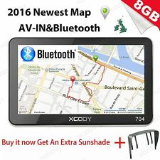 "XGODY 7"" 8GB TOM Truck Car GPS Navigation Lorry Coach Sat Nav Bluetooth AVIN EU"