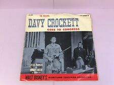 Vintage Davy Crockett Goes to Congress Vinyl Record Album Columbia