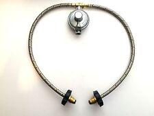 Propane Regulator LP Gas 3 way Manifold 2 Braided Hoses