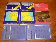 Five Maps of Areas of Great Britain - Scotland SE & SW Stirling England Midlands