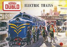 ROBERT  OPIE  ADVERTISING  POSTCARD  -  HORNBY  DUBLO  ELECTRIC  TRAINS