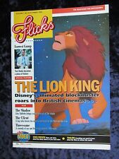 Flicks Magazine THE LION KING cover and feature DISNEY