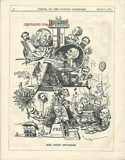 1873 Punch Cartoon Latest Art Dream Barometer Artists Pot-Boiler