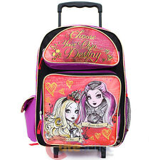 "Ever After High Large School Roller Backpack 16"" Rolling Trolley Bag-Foever High"