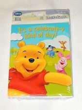 WINNIE THE POOH & FRIENDS~8-INVITATIONS, BIRTHDAY-CHILD  PARTY  SUPPLIES