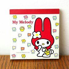Vintage 1976 1997 Sanrio My Melody Square Notepad Notebook Collectible Japan