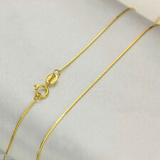 """New Fine Pure 18K Yellow Gold Necklace Women's Elegant Snake Style Chain 18""""L"""