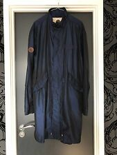 Pretty green Blue Shimmer Trench Parka jacket Large