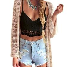 Women Crochet Tank Tops Sleeveless Lace Vest Blouse Bralette Bra Cami Crop Top