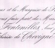 Léon De La Roche-Fontenilles 1859 Thérèse De Chevigné