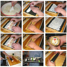 DIY Sushi Rolling Roller Bamboo Material Mat Maker And Rice Paddle Kitchen Set