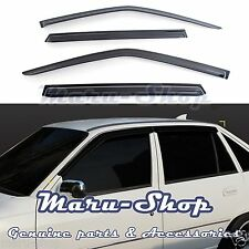 Smoke Door Window Vent Visor Deflector for 94+ Daewoo Cielo/Nexia 4DR/5DR