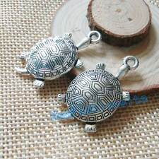 New 10PCS 35x18mm Vintage Antique Silver Turtles tortoise Alloy Charms Pendant