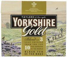 Taylors Yorkshire ORO 80 TEABAGS 250g-venduti in tutto il mondo dal Regno Unito