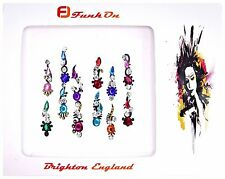 1  PACK OF 12 MULTI-COLOURED DIAMANTE INDIAN BRIDAL BINDI CRYSTAL TIKKA HEAD D10