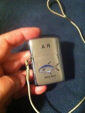 vintage 1974 LOSS PROOF FISHING  zippo WITH ORIG.LANYARD,CLEAN,UPSIDEDOWN CODE!