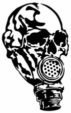 SKULL GAS MASK Vinyl Decal Sticker Window Wall Car Bumper Walking Zombie Dead