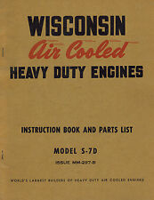 WISCONSIN HD ENGINE  S-7D INSTRUCTION and PARTS  MANUAL