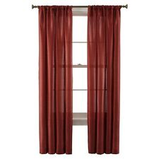"Royal Velvet® Britton Rod-Pocket Curtain Panel Brick 50""x84"" FREE SHIPPING  A54"