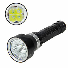 100M Dive 10000lm 4x CREE XM-L2 LED Scuba Diving Flashlight Torch 18650/26650