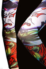 Fake Temporary Multi Coloured Kabuki Joker Tattoo Arm Sleeve (One size Stretch)