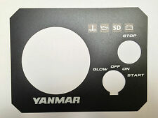 Yanmar engine panel sticker, OEM quality self adesive 3YM30 , 129271-91120