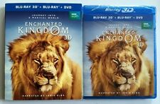 NEW ENCHANTED KINGDOM 3D BLU RAY DVD 2 DISC SET + SLIPCOVER SLEEVE FREE SHIPPING