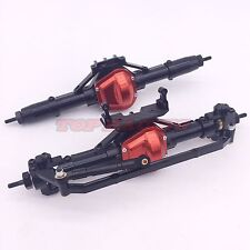 Axial SCX10 CNC ALL MEAL Assembled Axles Set Front + Rear Axle Black Cool Racing