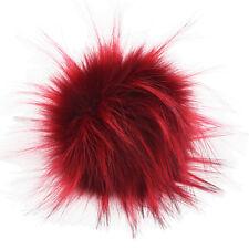 DIY 11CM Faux Raccon Fur Fluffy Pom Pom Ball for Hats Beanie Warm Accessories