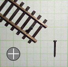 100 Stück Gleisschrauben schwarz (1,4mm X 12mm) - E602